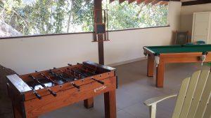 Salão de Jogos em frente à Piscina Aquecida